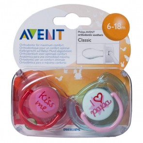 CHUPETE SILICONA PHILIPS AVENT 6- 18 M TEXTOS