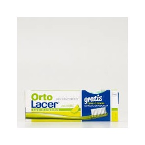 ORTO LACER GEL DENTRIFICO SABOR LIMA 75ML + CEPILLO REGALO