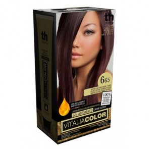 TH PHARMA VITALIA SIN AMONIACO COLORACION CAPILAR PERMANENTE COLOR  6.65 RUBIO OSCURO ROJO CAOBA