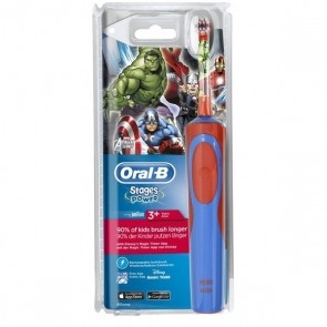 CEPILLO DENTAL ELECTRICO RECARGABLE INFANTIL ORAL-B STAGES VENGADORES +3 AÑOS SUAVE