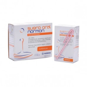 SUERO ORAL NORMON PACK  NARANJA 250 ML 2 U