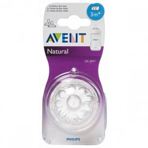 TETINA NATURAL FLUJO MEDIO AVENT PHILIPS RECIEN NACIDO + 3 M